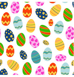 Easter seamless pattern background retro vintage vector