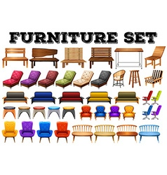 Different design of modern furniture vector image vector image