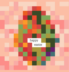 easter egg colorful image and happy easter vector image vector image