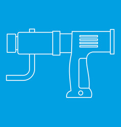 Hand drill icon outline vector