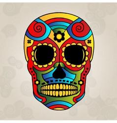 Sugar skull mexico day of dead - vector image vector image