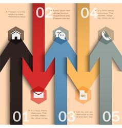 Trendy banner arrow design for infographics vector image vector image