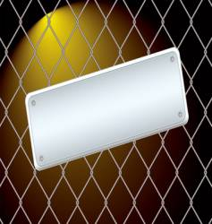 wire fence night vector image vector image