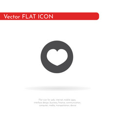 a heart icon for web business finance and vector image