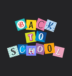 abstract back to school funny concept vector image