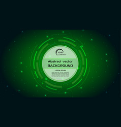 Abstract background with green hud circle vector