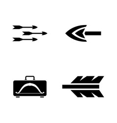 arrows simple related icons vector image