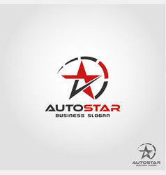 Auto star - auto speed logo template vector
