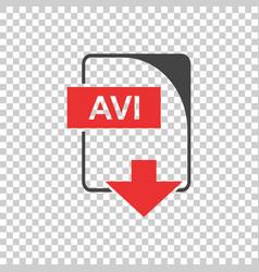 Avi icon flat vector
