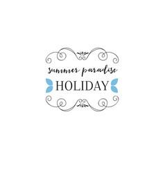 badge as part design - summer sticker vector image
