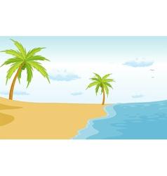 Beach paradise vector image