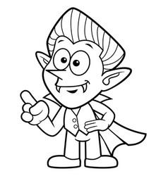Black and white cartoon dracula mascot orders vector