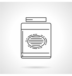 Black line icon for gainer supplements vector image