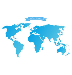 blue world map vector image