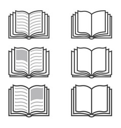 book icon sign design learning education vector image