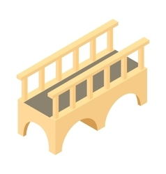 Bridge for transit icon cartoon style vector