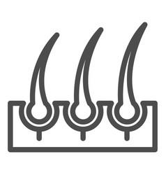 Bristle hair line icon shaving vector