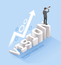 business vision concepts businessman standing vector image