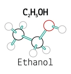 C2H5OH ethanol molecule vector image