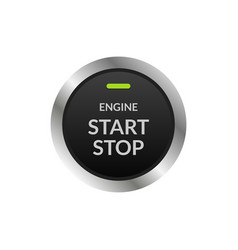 Car engine start stop button ignition push circle vector
