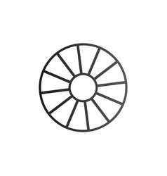 Cart wheel icon isolated on white background vector