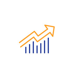 Chart line icon report graph sign vector