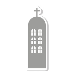 Church building religion isolated icon vector