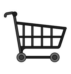 Color image cartoon shopping cart vector