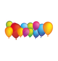 Colored party balloons icon vector