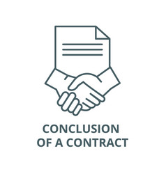 conclusion a contract line icon vector image