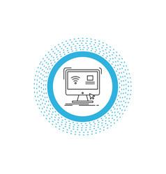 Control computer monitor remote smart line icon vector