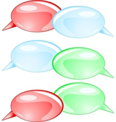 Couple speech bubbles vector image