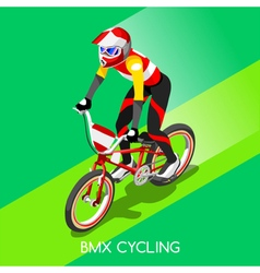 Cycling BMX 2016 Summer Games 3D Isometric vector