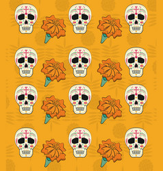 day of the dead background vector image