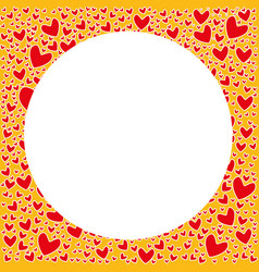 empty valentine day pattern card for sign vector image