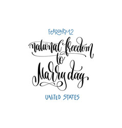 february 12 - national freedom to marry day vector image