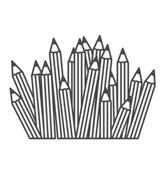 figure pencils color icon vector image