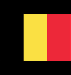 flag of belgium in official rate and colors vector image