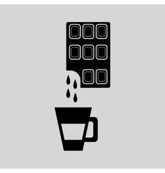 Flat in black and white coffee with chocolate vector