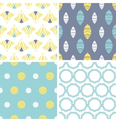 Four abstract fun motives seamless patterns set vector image