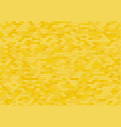 Gold brick wall background yellow bricks texture vector