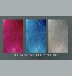 Grunge red concrete wall texture vector