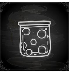Hand Drawn Jar of Balls vector image