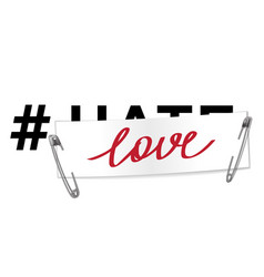 Hashtag love t-shirt fashion print on white vector