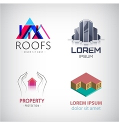 Home and real estate logo collection House office vector