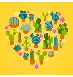 I love cactuses logo vector