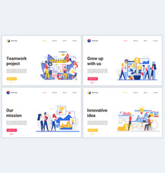 Innovation teamwork on business project vector