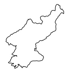 Isolated north korean map vector