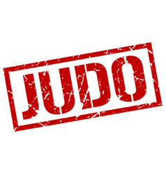 judo stamp vector image