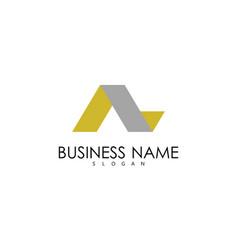 letter a ribbon buisness logo vector image
